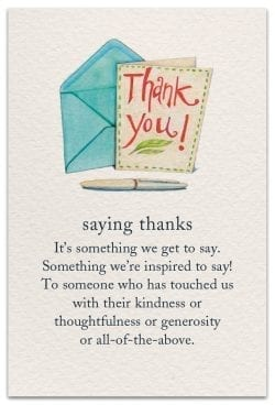 saying thanks thank you card front