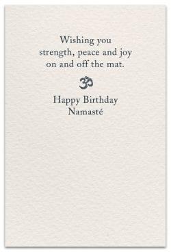 yoga birthday card inside message