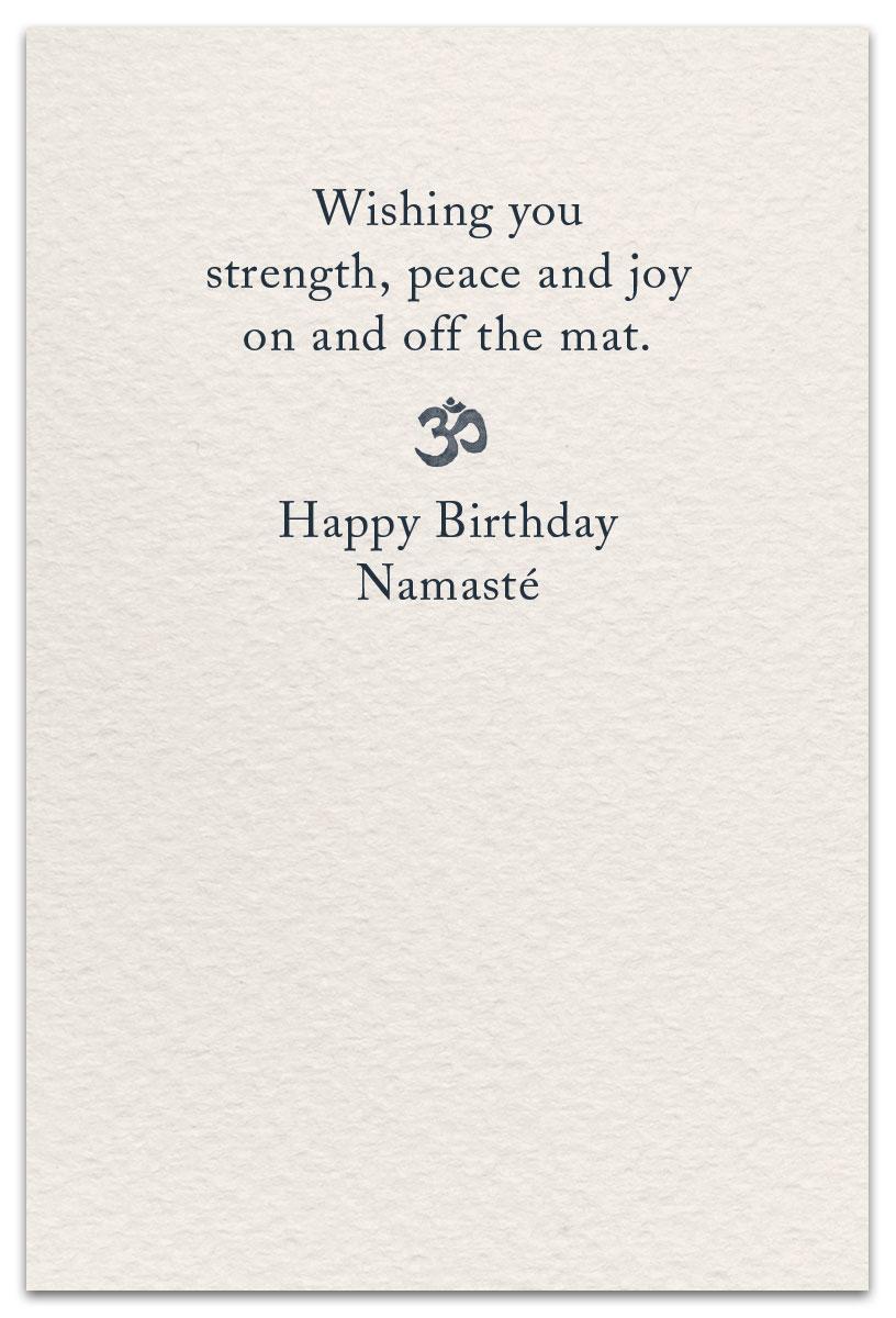 Yoga Birthday Card Cardthartic Com Inside