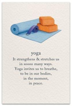 yoga birthday card front