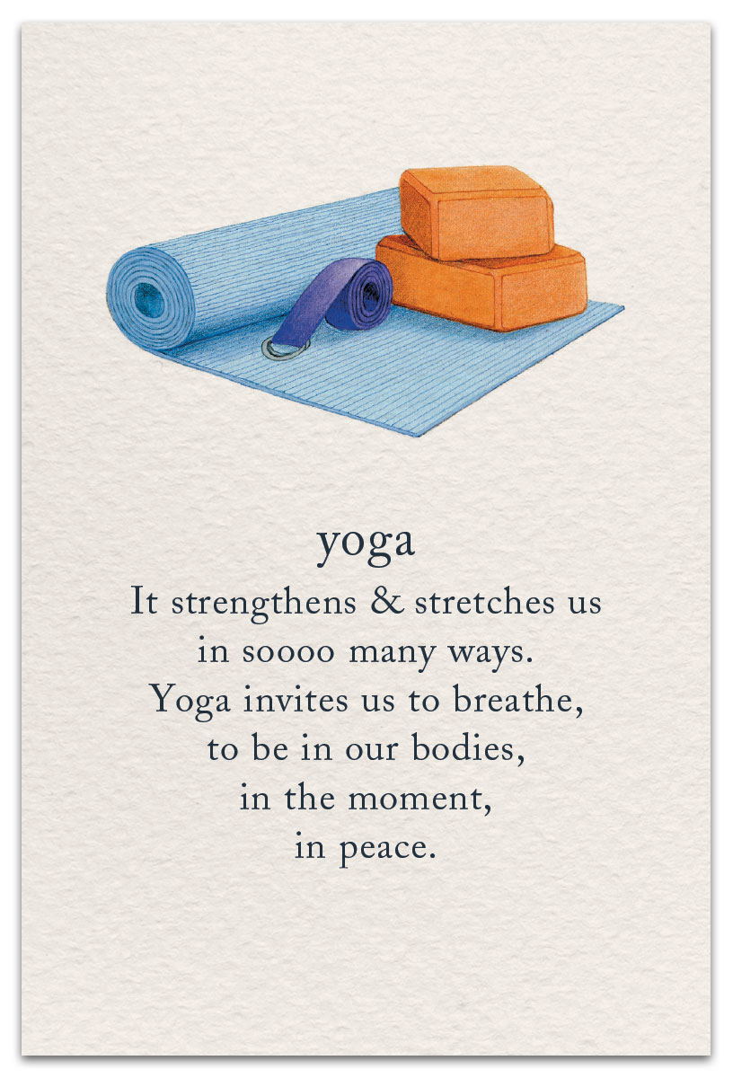 Yoga Birthday Card Front
