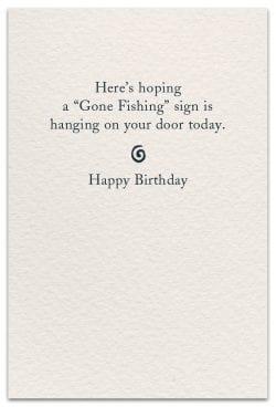 fishing birthday card inside message