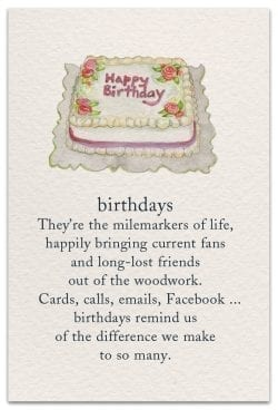 birthdays card front