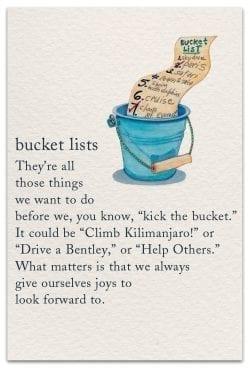 bucket lists birthday card front