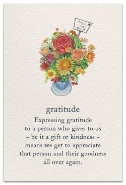 gratitude thank you card front