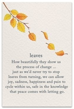 leaves support encouragement card front