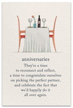 anniversaries card front