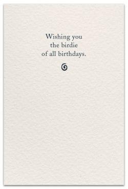 golf birthday card inside message
