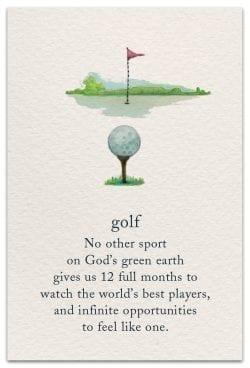 golf birthday card front