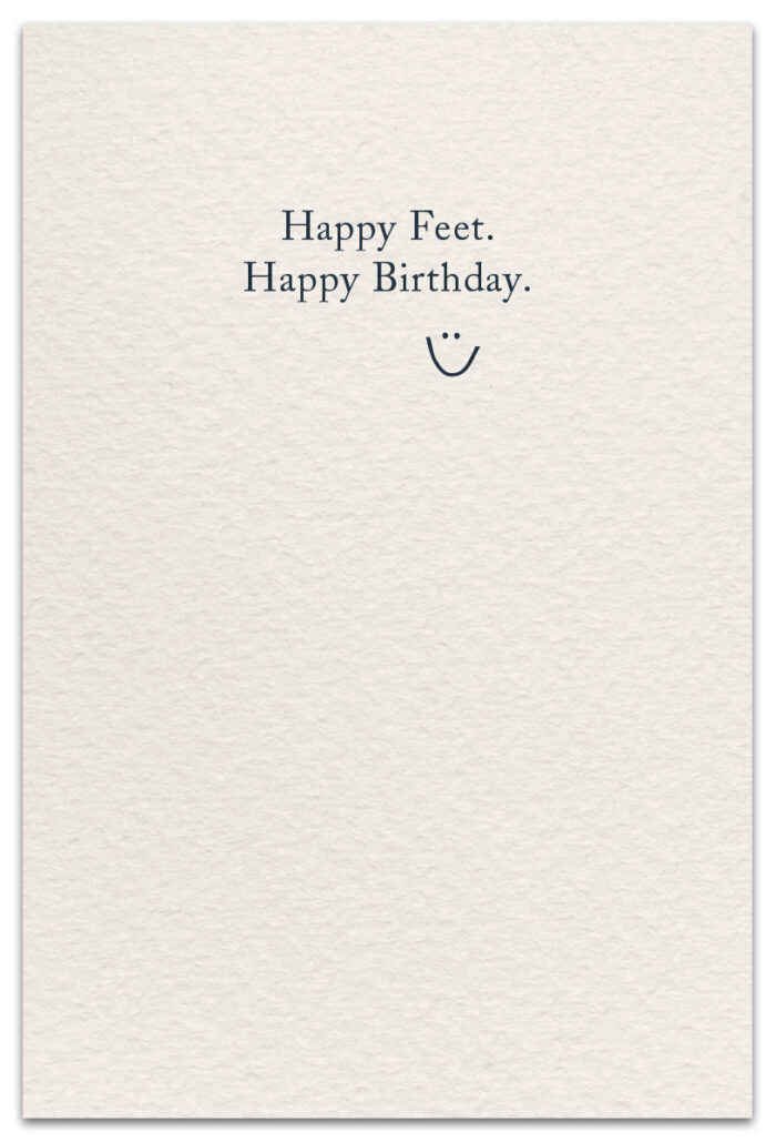 flip-flops birthday card inside message