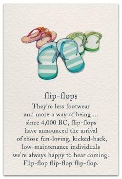 flip-flops birthday card front