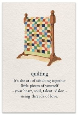 quilting birthday card front