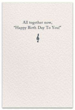 music birthday card inside message