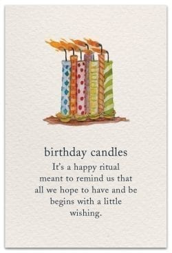 birthday candles card front