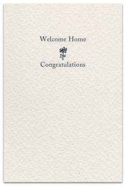 a new home card inside message