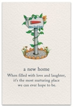 a new home card front