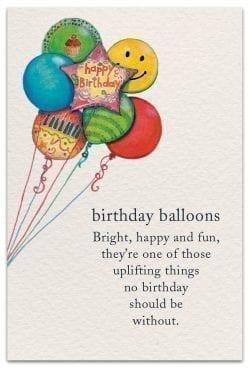 birthday balloons birthday card front