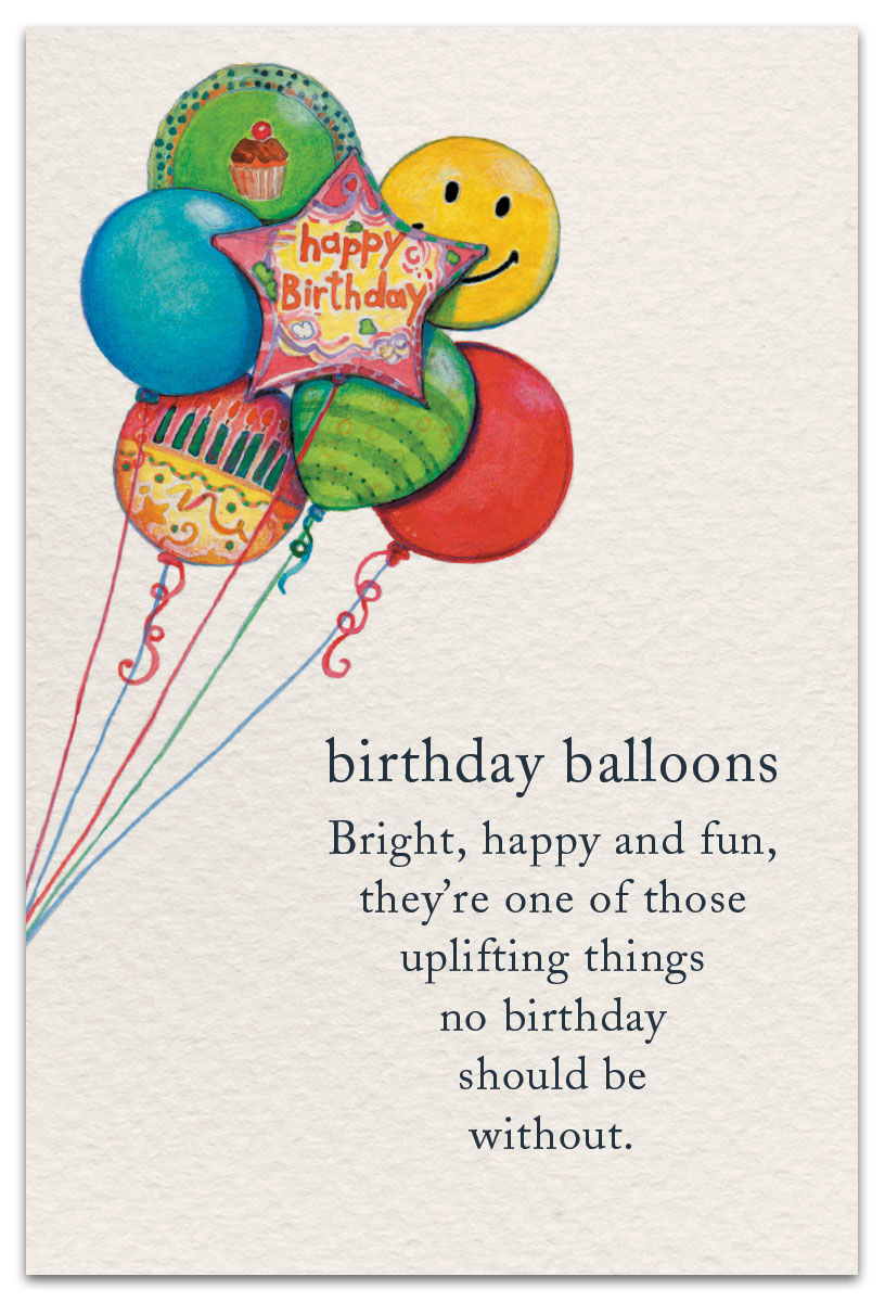 Birthday Balloons Card Front