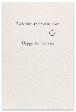 bicycle built-for-two anniversary card inside message
