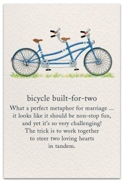 bicycle built-for-two anniversary card front