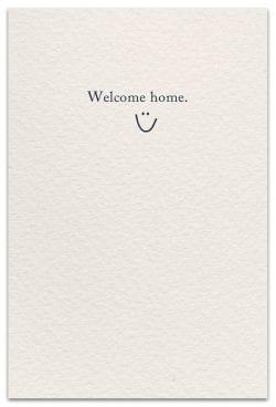 house keys new home card inside message