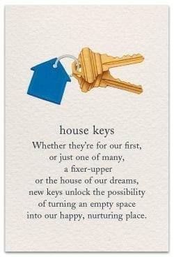 house keys new home card front