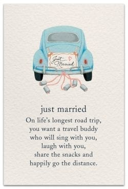 just married birthday card front