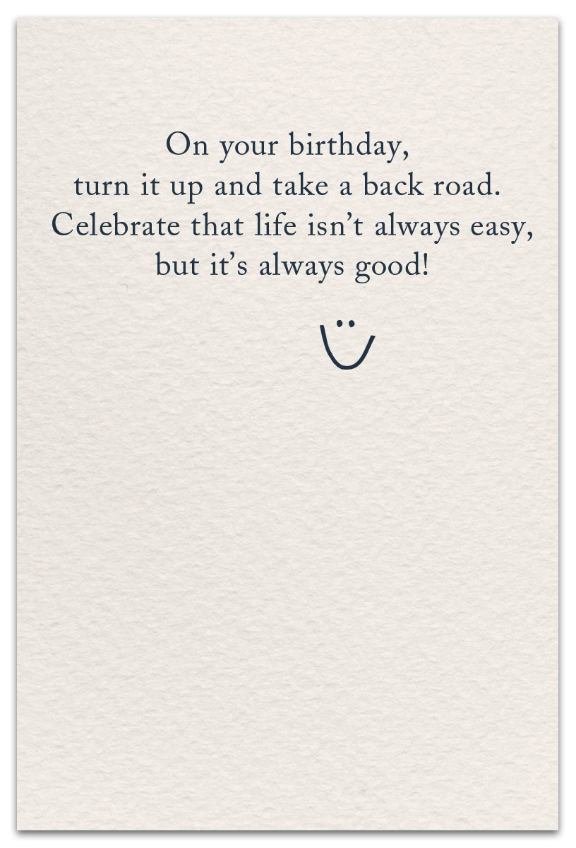 Country Music Birthday Card Inside Message