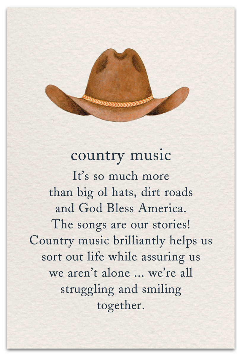 Country Music Birthday Card Front