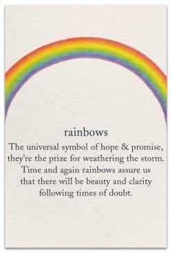 rainbows support encouragement card front