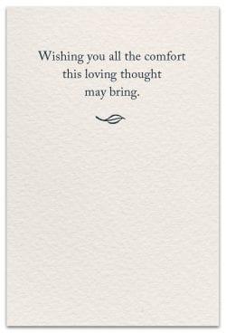 peace lilies condolence card inside message
