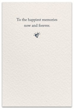 forget-me-nots condolence card inside message