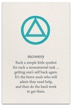 recovery support encouragement card front
