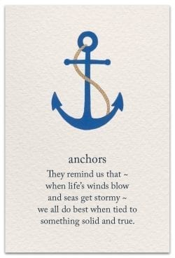Anchors Friendship Card Front