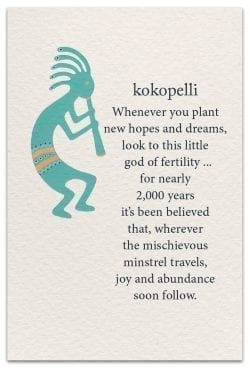 kokopelli birthday card front
