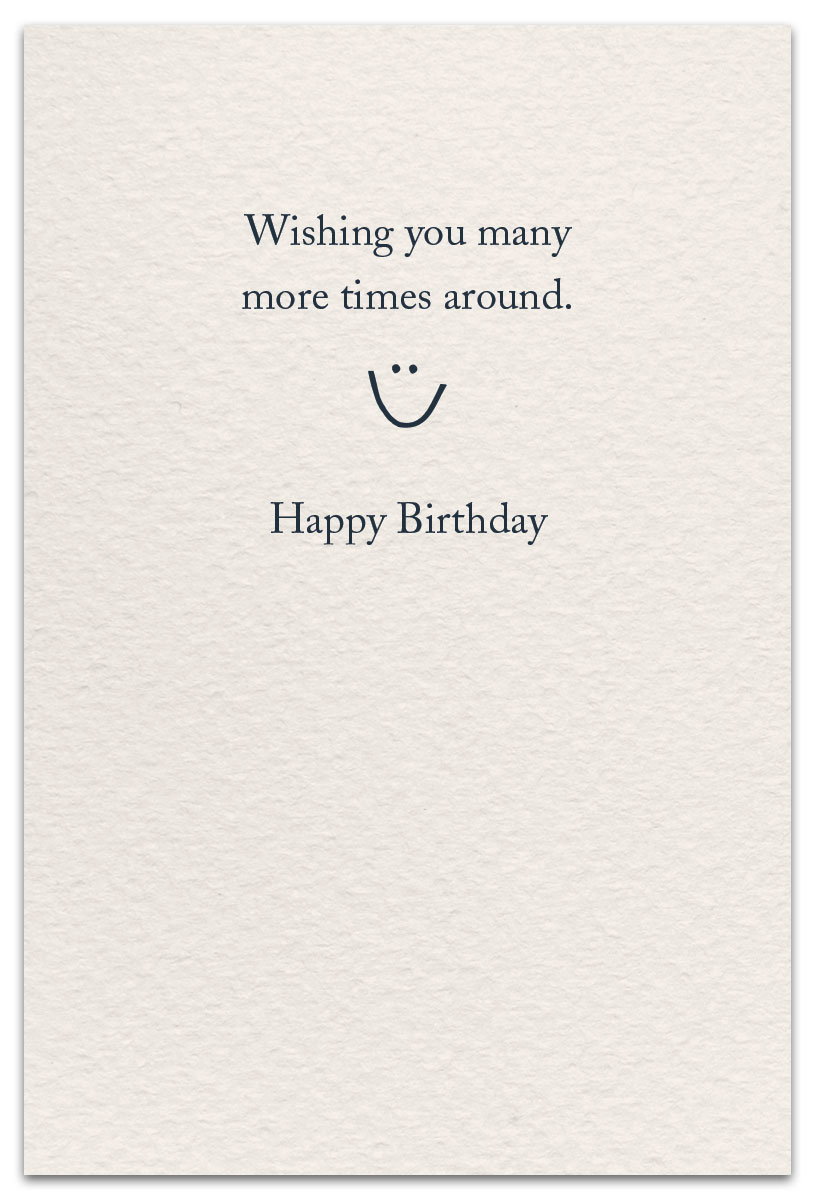 Merry Go Rounds Birthday Card Inside Message