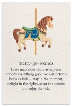 merry-go-rounds birthday card front