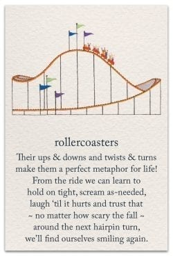 roller coaster support encouragement card front
