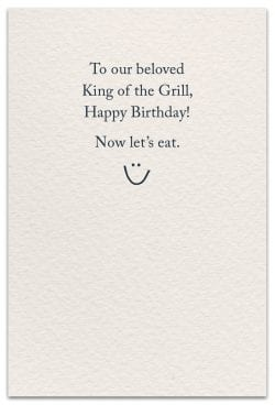 grilling birthday card inside message