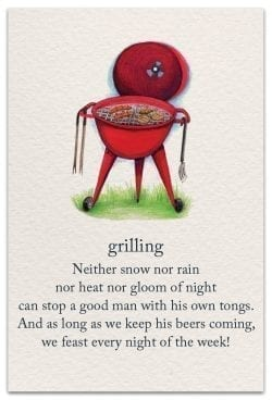 grilling birthday card front