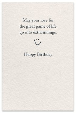 baseball birthday card inside message