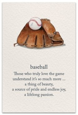 baseball birthday card front