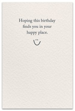 seahorses birthday card inside message
