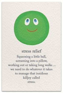 Stress Relief Support Encouragement Card Front