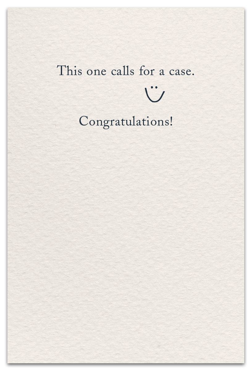 Champagne Congratulations Card Front