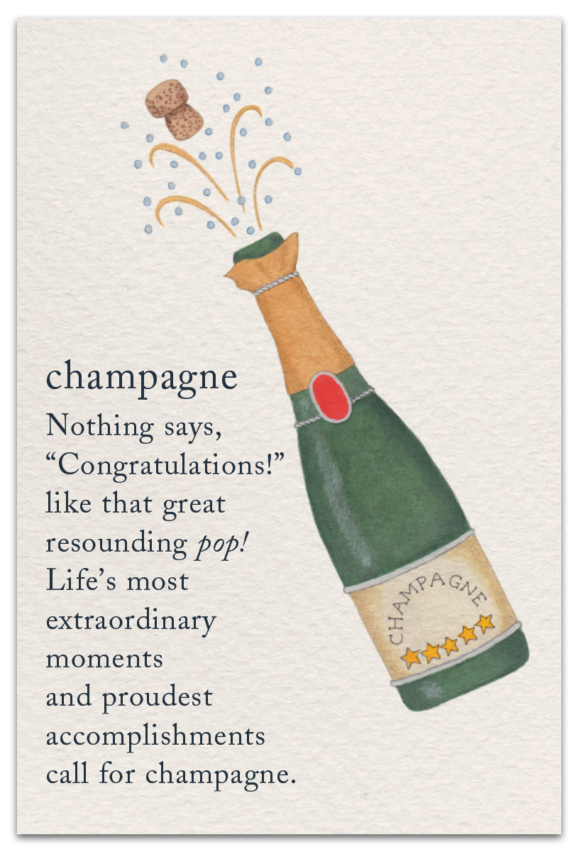 Champagne Congratulations Card Inside Message