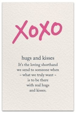 XOXO Friendship card front