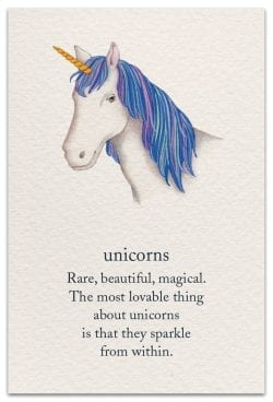 Unicorns Birthday Card Front