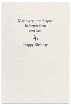 Page-turner birthday card inside message