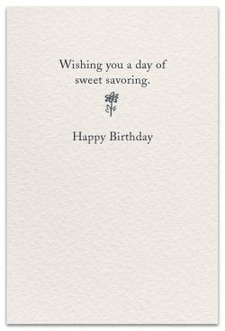 Hummingbirds Birthday Card Inside Text